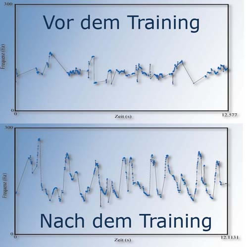Vor dem Training, nach dem Training